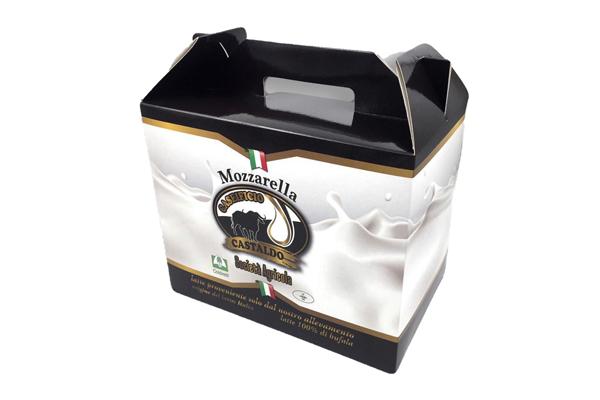 cassetta per il confezionamento di mozzarelle