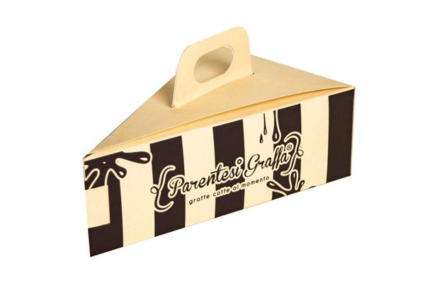 scatola per fetta di torta